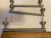 """Stainless Steel Drawer Pulls Cabinet Hardware Set of 3 Heavy Handles 6.5"""" W NEW"""
