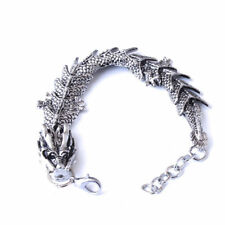 Men's Bracelets Punk Fashion Chinese Dragon Bracelet Stainless Steel Jewelry New