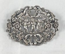 "Miracle Silvertone Cupid/Cherub Pin/Brooch - 2 1/4"" x 1 1/2"""