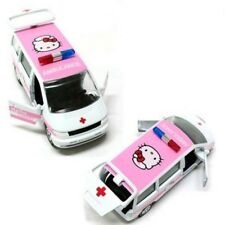 Hello Kitty Die Cast Mini Ambulance Model Car Toy Deco for Kids Children