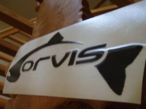 ORVIS Die Cast Trout Big Boy Fly Fishing Boat Decal/Sticker