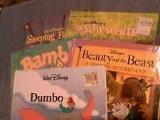 5 h/c Disney book lot: Beauty & Beast, Bambi, Dumbo, Snow White, Sleeping Beauty