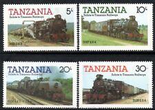 (Ref-10892) Tanzania 1985 Trains Railway Steam Locomotives  SG.430/433 Mint MNH