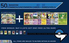Mega 50 Card Lot New Pokemon BULK w10 HOLOS RARES! Shaymin?Charizard?Mew? ?+EX?