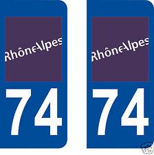 stickers autocollants plaques immatriculation auto Département Haute-Savoie 74