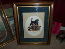 BEAUTIFUL BLACK LABRADOR PICTURE FRAMED