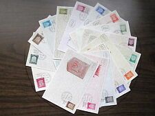 Israel 276-291, Town Emblems, Coat of Arms, Simon's Maxi Maximum Card 1965