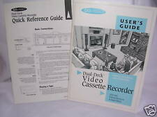GOVIDEO User's Guide & Quick Reference Guide - VHS-VHS