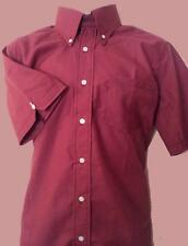NEW XL MODERNACTION Claret Shirt Skinhead Mod Oi! Ska Sham 69 Major Accident Oil