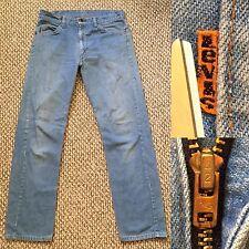 Vintage Vtg Levis Levi's 505 9812 Straight Leg Orange Tab Talon 42 USA Ice Blue