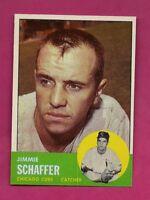 1963 TOPPS # 81 CUBS JIMMIE SCHAFFER NRMT-MT CARD (INV# A4831)