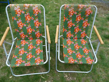 2 campingstühle klappstühle mit armlehne ddr alugestell angelstühle