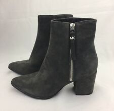 NIB Michael Kors Dawson Suede Mid Booties Ankle Boot Charcoal GRAY SZ 5 $199 NEW