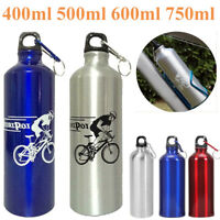 750ml Aluminium Alloy Outdoor Cycling Drinking Water Bottle w/Hanging Buckle
