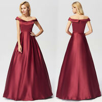 Ever-Pretty Formal Evening Prom Gown Long A Line Cruise Party Dress Burgundy
