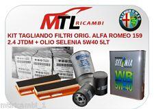 KIT TAGLIANDO FILTRI ORIG. ALFA ROMEO 159 2.4 JTDM + OLIO SELENIA 5W40 5LT