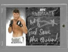 2015 TOPPS UFC KNOCKOUT MICHAEL BISPING AUTO INSCRIPTIONS GOD SAVE THE QUEEN