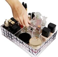 Cosmetic Organiser Acrylic Make-Up Holder Case Box Jewelry Storage With Handle