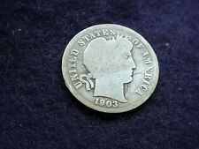 1903 BARBER DIME NICE COIN!!  #13
