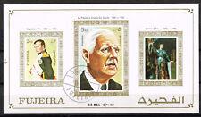 Manama Art Famous Paintings Napoleon D'Arck and De Gaulle S.Sheet 1970