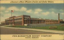 Omaha NE Iten-Barmettler Biscuit Co Factory Linen Postcard