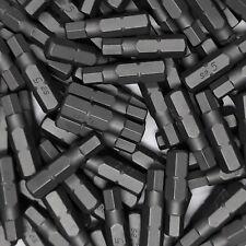 """100 Stück Bits SW5 Schrauberbits Innen Sechskant Stahl S2 Bit 25mm 1/4"""" Aufnahme"""