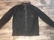 Mens Harley Davidson Large Lined Jacket Black Gray
