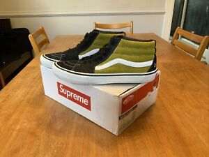 Supreme Vans Sk8 Mid Corduroy Croc Mustard Size 11.5 100% Authentic Preowned