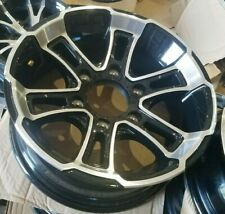 "SINGLE 15""X6"" 6 LUG ON 5.5  BLACK ALUMINUM TRAILER WHEEL"