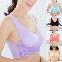 Women Seamless Cross Side Front Buckle Gathered Push Up Bra Sport Yoga Crop Tops