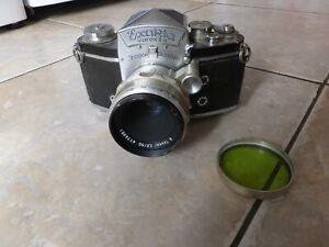 Vintage Exakta Varex IIA Camera + Carl Zeiss Lens. winds on & fires.