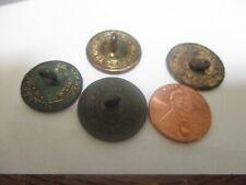 "4 Georgian Colonial Revolutionary War Flat Button ""Treble Guilt Stand. Colour"""