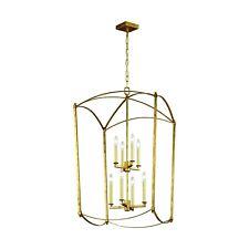 "Feiss F3324/8ADB Thayer 8 Light 48"" Antique Guild Chandelier Gold Leaf  SRP$1017"