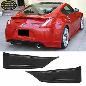 Fits 09-20 Nissan 370Z SS Style Rear Aprons Spat Rear Bumper Lip Pods