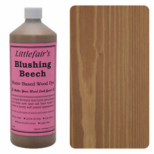 Littlefair's Water Based Rustic Shabby Chic Wood Stain and Dye - Blushing Beech