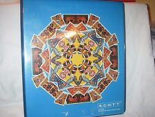 VINTAGE RARE SCOTT RING BINDER OLYMPIC PAGES WITH VARIOUS CANCELLED STAMPS
