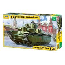 ZVEZDA 3667 SOVIET HEAVY TANK T-35 SCALE MODEL KIT 1/35 NEW
