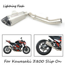 For 2015 2016 Kawasaki Z800 Motorcycle Exhaust Mid Tail Pipe Slip On 51mm Escape