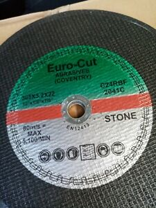 Euro Cut 300mm x 22mm Bore Stone Cutting Grinding Discs Pack of 10 or 25