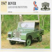 1947 LAND ROVER LANDROVER Prototype Classic Car Photograph/Information Maxi Card