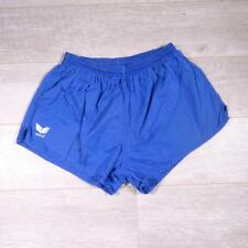 "ERIMA 32""-34"" Vintage Blue Cotton PT Sprinter Running Ibiza Shorts Medium #A3921"