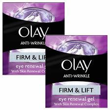 Olay Anti-Wrinkle Eye Renewal Gel, Firm & Lift, 2 Pack, 15ml