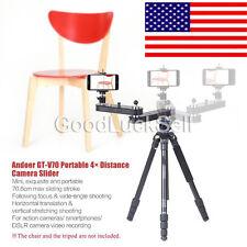 GT-V70 Camera Slider+ Panning+ Linear Motion 4×Distance for GoPro DSLR Camera US