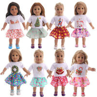 """Hot Latest Handmade Doll Christmas Set Fits 18"""" Inch American Girl Doll Clothes"""