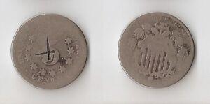 USA   Shield Nickel  5 cents 1868