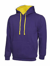 Unisex Contrast Colour Mix Hooded Sweatshirt Varsity Hoodie Pullover Hoody Lot