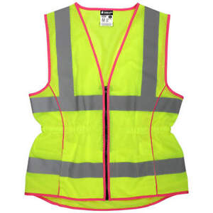 MCR SAFETY LVCL2MLL High Visibility Vest,L Size,Women