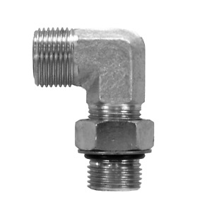 """FS6801-06-08 Hydraulic Fitting #6 Male Face Seal X 1/2"""" Male O-Ring 90"""