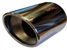 110MM OVAL EXHAUST TRIM TIP TAIL PIPE PIECE CHROME UNIVERSAL WELD ON QUALITY