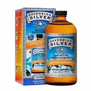 Sovereign Silver 32oz - Bio-Active Silver Hydrosol for Immune Support - 32 Fl Oz